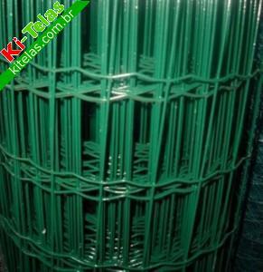 Tela plastificada malha 5x10cm 2 5mm 1 52m verde - Tela plastificada por metros ...